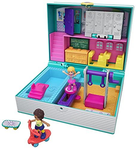 Polly Pocket Scuola, Playset con Due Bambole e Accessori, Giocattolo per Bambine 4+ Anni, GFM48