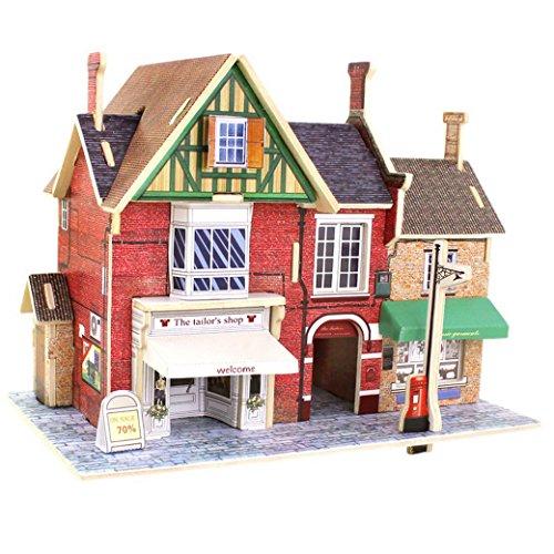 3D Puzzle Madera DIY Modelo Creativo Juguete Educativo Juego para Niño Niña   Casa en Reino Unido   Tienda de Sastre