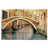 Rompecabezas de madera de Venecia Puente Antiguo Góndola de 1000 piezas de madera Jigsaw Puzzles, regalo creativo, clásico juego educativo juguetes para adultos y familias