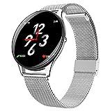 XINGYAO Schermo a Colori Smart Watch con cardiofrequenzimetro IP68Stracciatore di Fitness a Tenuta stagna con Orologio da Polso da inseguitore di attività per monitorare Il Sonno,Silver