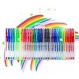Gel Pens, 30-Color Neon glitter gel pens Fine Tip Art Markers Set colored gel pens for adult coloring, Drawing, Doodling, Scrapbook, Bullet Journal, best gift gel pens for kids