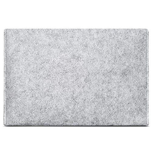 ROYALZ Hülle für Apple iPad 9.7 2018 Tasche (9,7 Zoll Tablet) Schutzhülle Sleeve Design Cover Filztasche Case, Farbe:Grau