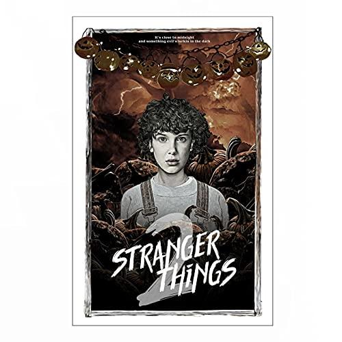 Póster de Lienzo Stranger Things Season 2 Netflix Original TV Series Sci Fi Arte Alternativo Decoración para el hogar Póster 60x90cm