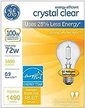 ge crystal clear light bulbs 100w