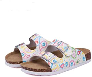 JOYBI Women Open Toe Sandals Print Non Slip Cork Buckle Strap Comfort Beach Summer Casual Mules Clogs Shoes