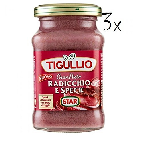 3x Star Tigullio GranPesto Pesto Radiccio e speck 190 g Sauce Soße