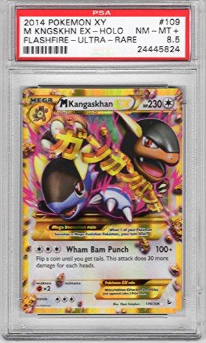 PSA NM - Mint+ 8.5: M/ Mega Kangaskhan EX - Secret Rare Holo (109/106) - Pokemon XY (Flashfire) SECRET RARE