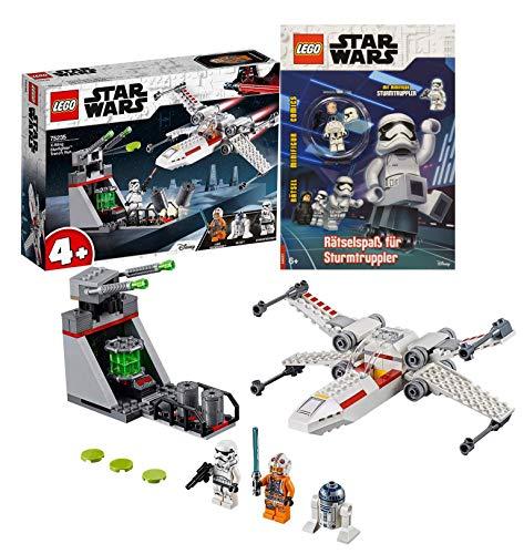 Legoo Lego Star Wars-Set: 75235 - X-Wing Starfighter Trench Run + Rätselspaß für Sturmtruppler, ab 4 Jahren