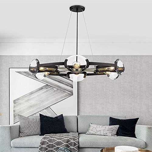 Asncnxdore Nueva Lámpara De Cristal De 6 Postes Moderna Sala De Estar Minimalista Dormitorio Comedor Estudio Lámparas De Diseño De Arte Retro (diámetro 75 Cm)