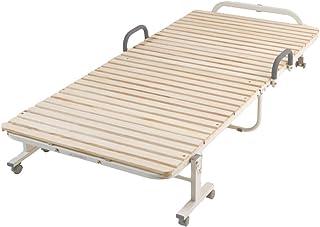 アイリスプラザ ベッド すのこ すのこベッド スノコ 折りたたみ 折りたたみすのこベッド シングル シングルベッド シングルサイズ FDBB-9939 ナチュラル すのこ31枚タイプ