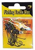 Fishing Tackle Max FTM Omura Hooks Ninfh con rebaba, tamaño N 4 8380504 - Anzuelos para pesca de trucha ultraligera con cebo de goma
