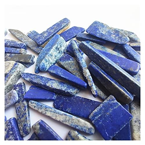 YSDSPTG Rohsteine Mischung Natürliche rote grüne Aventurin Steinstreifen Lapis Lazuli Stein echter Stein Stick für schmuck Machen DIY absolvierte Anhänger (Color : Lapis Lazuli, Size : 100g)