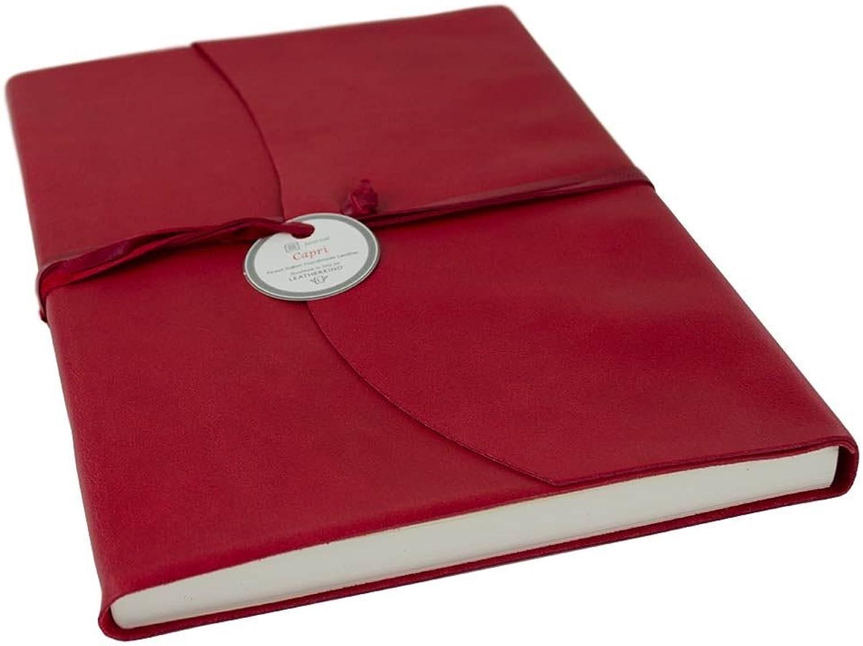 LEATHERKIND Capri Leder Notizbuch Ziegelrot, A4 Liniert Seiten - Handgefertigt in Italien B07C3XMSHL | Sorgfältig ausgewählte Materialien