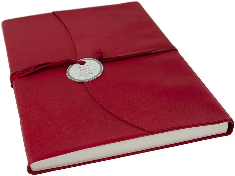 LEATHERKIND Capri Leder Notizbuch Ziegelrot, A4 Liniert Liniert Liniert Seiten - Handgefertigt in Italien B07C3XMSHL   Vielfalt  e80864