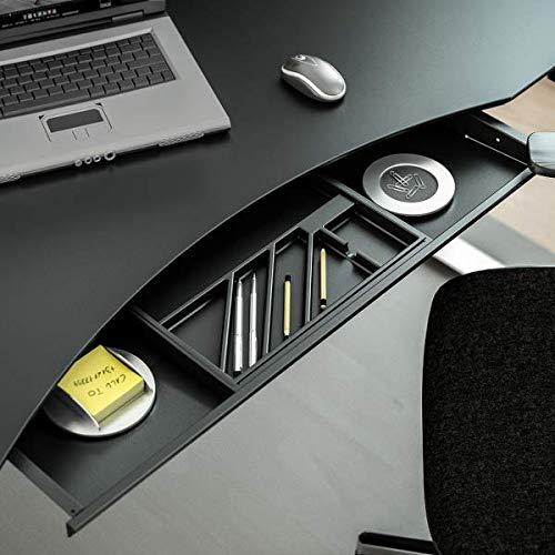 Schwarze Unterbau-Schublade/Utensilien-Auszug für Schreibtisch