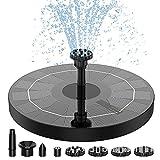 Fuente Solar para Estanque, AISITIN 2.5W Bomba de Agua Solar, Solar Fuente con 6 Estilos, para Estanque de Jardín Fuente, Baño para Pájaros, Césped, Circulación de Agua para Oxígeno