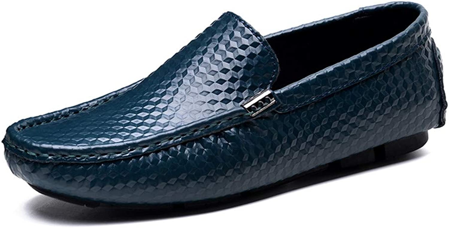 Herrenschuh Leder Loafers Schuhe Lazy Schuhe Erbsen Schuhe runden Schuh rund um den Schuh komfortabel Mode Wild Breathable Leisure