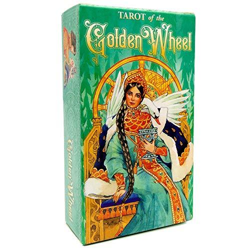 78 Blätter Orakelkarten Tarot, Angelkarten, GOTTKARTEN, Fate PRODACTION Card SetsFür Freundliche Party Board Spiel, englische Version,Golden Wheel Tarot