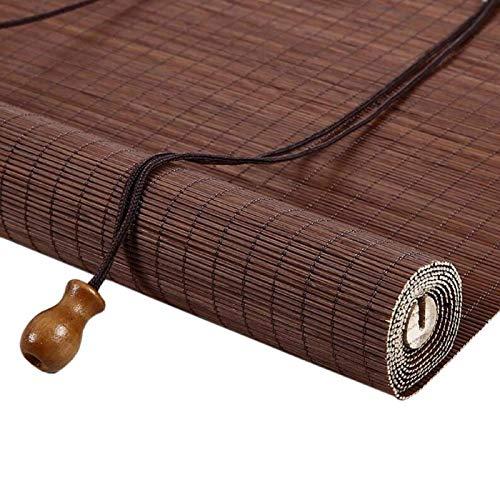 KEOA Tejidas A Mano Persiana Enrollable de Bambú Parasol Estor Enrollable de Bambú Interiores Exterior Persianas De Caña Filtro De Luz Decorative Protector Solar-W 105*H 120cm