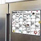 Volcanics Fridge Calendar Magnetic Dry Erase Calendar Whiteboard Calendar for Refrigerator Planners 11.5 Inches X 14.7 Inches