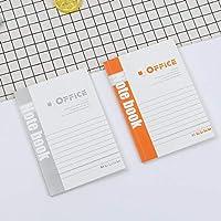 32オープンソフトカバーメモ帳A5オフィスメモ帳日記ビジネスノートブック14 * 20cm組み合わせ,オフィスカバー3枚入り