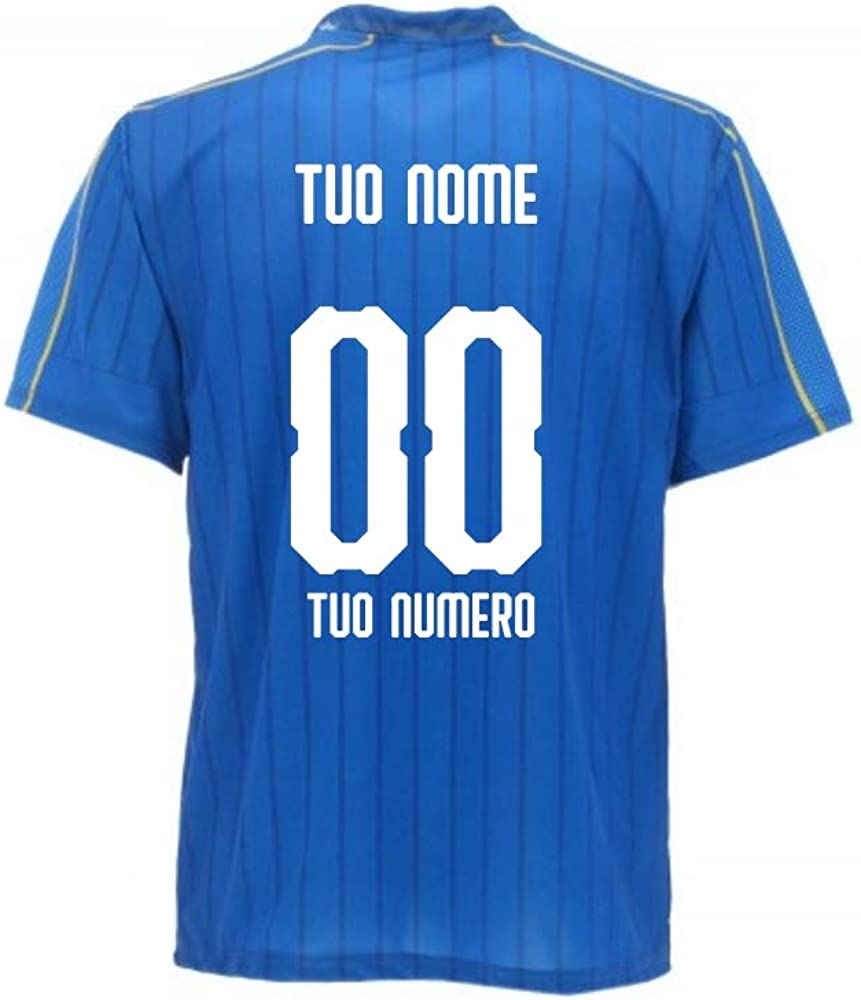 BrolloGroup Completo Calcio Italia Personalizzata Maglia Pantaloncini Replica FIGC PS 31470