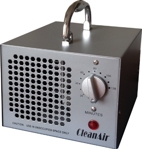 CleanAir Industrial Ozone Generator 3,500mg (3.5G) Air Deodorizer Sterilizer, with 120 Minute Timer and NO Hold