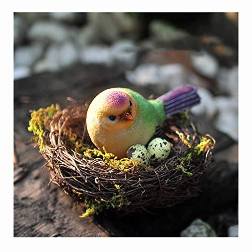 Nistkästen Das mit Stroh und Rattan gewebtes Vogelnest ist mit Vogeleier verziert, der für den Ruheplatz von Tauben und Papageien, Durchmesser 12 cm verwendet Wird