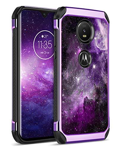 BENTOBEN Moto Z4 Case, Moto Z4 Phone Case, 2 in 1 Hybrid Anti-Slip Soft Rubber Bumper Hard Cover Rugged Shockproof Girls Protective Phone Case for Motorola Moto Z4, Nebula
