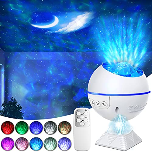 Galaxy Projector Night Light Star Moon Lamp with LED Universe Nebula Projector with 40 Colors Mini Star Projector for Kids Bedroom ,Party, Home Theater,Night Light Ambiance .