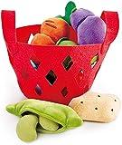 Hape E3167 Gemüsekörbchen Zubehör für Kinderküchen und Kaufmannsladen, ab 18 Monaten