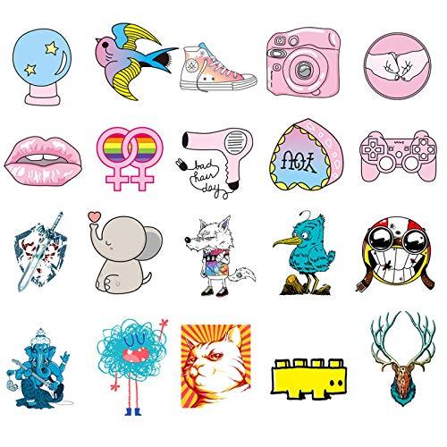 YRSM Luggage Computer Refrigerator Stickers PVC Stickers for Kids Cartoon Stickers