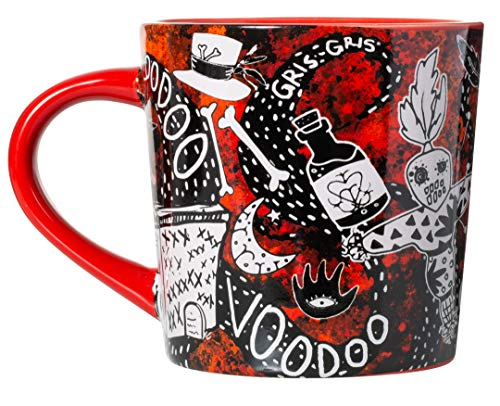 New Orleans Dark Voodoo Gothic Red and Black Souvenir Coffee Mug