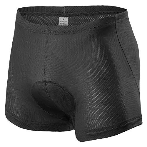 Cycling Underwear Shorts Padded, Lightweight Bicycle Riding Bike Shorts Men with Padding Black Medium