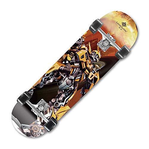 SMAA Skateboards für Anfänger, Complete Skateboard 31 x 7.88inch, Erwachsene Tricks Skate-Board mit 9 Schicht Ahornholz, für Extremsport und Outdoor,Hornet