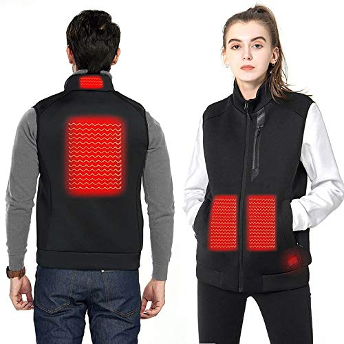 Ewendy Duo-nattern - Chaleco térmico con 5 zonas de calor y abrigo ligero para hombres y mujeres, corte ajustado, chaqueta calefactable para esquí, pesca, carga sobre abrigo térmico