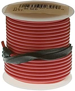 Clipsandfasteners Inc 1 Roll 18 Gauge PVC Primary Wire Red 45'