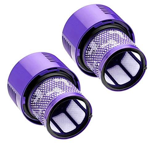 Lot de 2 filtres pour aspirateur Dyson V10 SV12 Cyclone Absolute Pro - Lavable - Accessoire de rechange pour aspirateur à batterie DC29