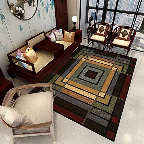 ZAZN Alfombra Impresa Retro Sala De Estar Sofá Mesa De Café Dormitorio Área Grande Manta De Cama Completa Antideslizante Material Resistente Al Desgaste