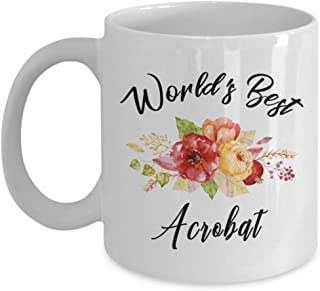 Acrobat Mug - World's Best - Funny Novelty Ceramic Coffee & Tea Cup Cool Gifts For Men Or Women With Gift Box