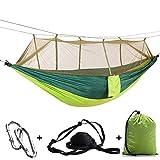 GUHSX Acampar al Aire Libre Hamaca paracaídas Mosquitera Flyknit Doble Ocio Dormir Silla Colgante Carpa ViajeRed Verde