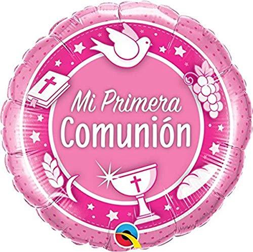 Globo Mi Primera Comunion rosa 45cm