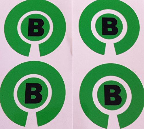 Crown Green Lawn Indoor Bowls Lijm Gekleurde Marker Etiketten Set van 4 (Groen, B)