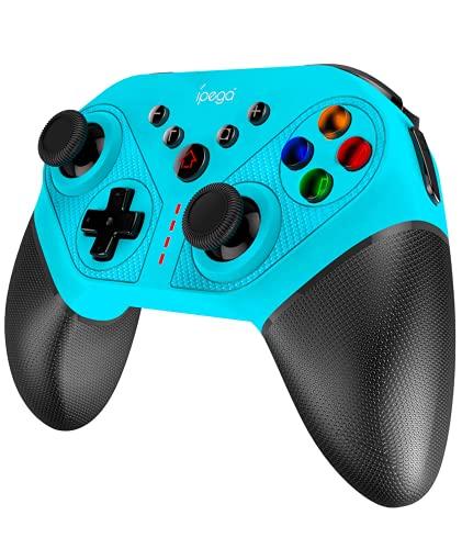 Controle sem fio para Nintendo Switch Pro, ipega SW038 Controladores com suporte 6 Gyro Axis, Turbo, 4 Combo Programável, Dual Motors Vibration Non Slip Handle, Screenshot,ABXY Symphony Light