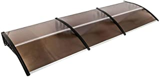 Binlin Patio Awnings 118x40 Window Awning Modern Polycarbonate Cover Front Door Outdoor Patio Canopy Sun shetter UV Rain Snow Protection