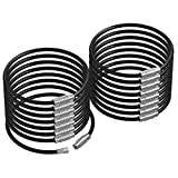 Silipac Metal Cable Key Ring-Heavy Duty Tough Stainless Steel Wire Tags Durable Keychains Twist Lock Carabiner-For Luggage Tag Loops Travelling Key Organizer Arts Projects-16 Pcs Black(6.3 inch 2mm)