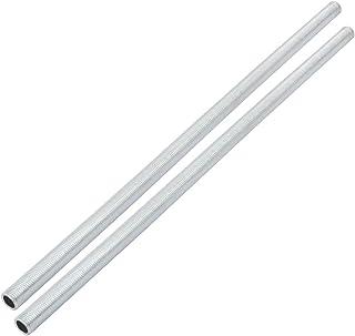 sourcing map Tubo galvanizado de piezas de lámpara de 300 mm de largo 2pcs métrica M10 1mm boquilla de rosca
