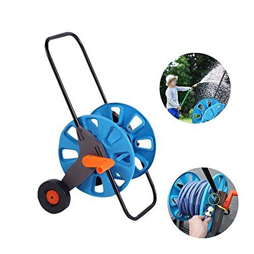 NOBLJX Carrello avvolgitubo da Giardino, Portatile Pieghevole di Alta qualità a Mano Supporto da Giardino per irrigazione con 2 Ruote per irrigazione per Attrezzi da Giardino