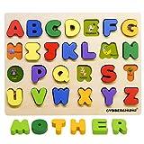 英語 アルファベット 動物 英文字 積み木 木製パズル GYBBER&MUMU 形合わせ はめこみ英語教育 ブロック 単語学習 (大文字)