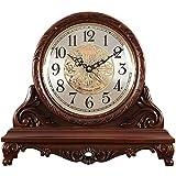 Chimenea reloj reloj reloj retro escritorio reloj antiguo sentado reloj nórdico mute reloj digital reloj de tiempo regalo, adecuado para la decoración de la sala de estar, chimenea, escritorio, 33x30x